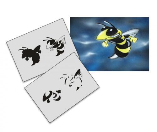 Step by Step Stencil AS-018 Bee ~ UMR Airbrush Stencil
