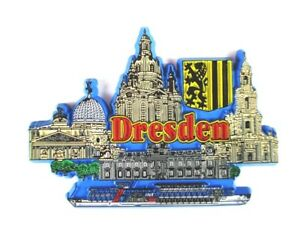 Dresde Femmes église GERMANY souvenir Aimant rubber caoutchouc, souple, NEUF  </span>