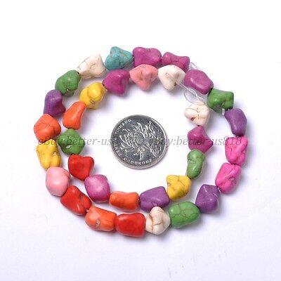 Howlite Turquoise Gemstone 12MM Freeformed Nugget Loose Beads 16'' Strand