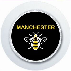 MANCHESTER BEE CAR TAX DISC HOLDER REUSABLE PARKING PERMIT HOLDER