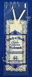 Bookmark-to-Cross-Stitch-Ecru-18-Count-Aida-With-Lace-amp-Ribbon-Blank-OOP