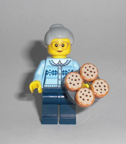Figur Minifig Omi Oma Grandmother Advent Kekse 60155 LEGO City Großmutter