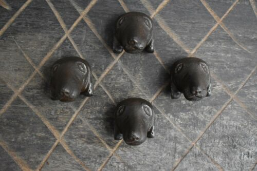 Iron door knobs Vintage Labrador Dog cabinet drawer handles pull rustic 4pcs