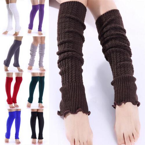 Fashion Women Girl Winter Long Leg Warmers Knit Crochet Leggings Stocking KWCAMR