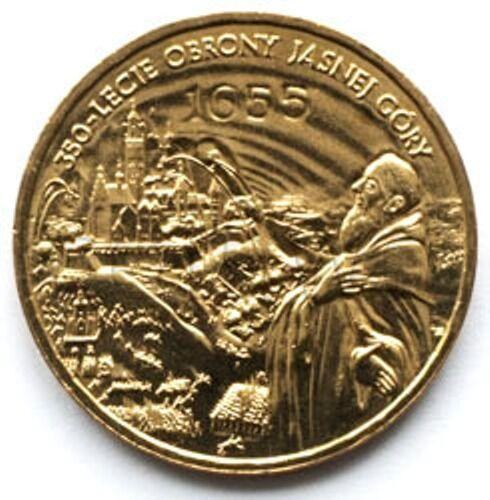 Poland 2 zloty 2005 350 years of defense of Jasna Gora UNC #434