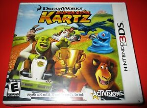 Image is loading Dreamworks-Superstar-Kartz -Nintendo-3DS-Factory-Sealed-Free-