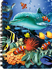 NEW 3D LiveLife DOLPHIN REEF Jotter lenticular notebook