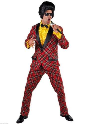 Disco Anzug Kostüm Herren 50er 60er Jahre Hippie Smoking Rock n Roll Discokostüm