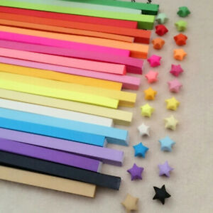 80Pcs Origami Lucky Star Paper Strips Folding Paper Ribbons Colors Handmade Gift
