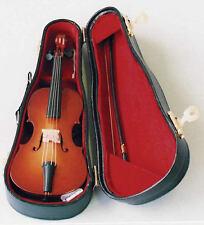 1:12 Scale Contrabajo Con Funda Rígida, Miniatura muñeca casa Instrumento Musical.