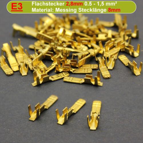 100 TERMINALI piatti femmina 6,3 unisoliert fino a 1,5 mm²