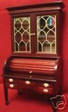 Dollhouse Miniature Victorian Mahogany Cylinder Desk