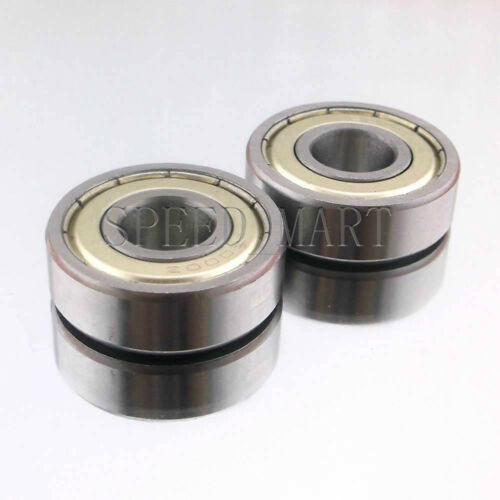 10mm*26mm*8mm 2PCS 6000ZZ Deep Groove Metal Double Shielded Ball Bearing