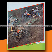 ★ DENIS PORTAL ★ 1975 Mini-Poster Pilote Moto Cross / Photo #MP79