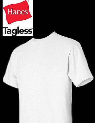 HANES Tagless 6.oz  Blank T-Shirt  Wholesale Bulk Lot COLORS S-XL 5250 plain