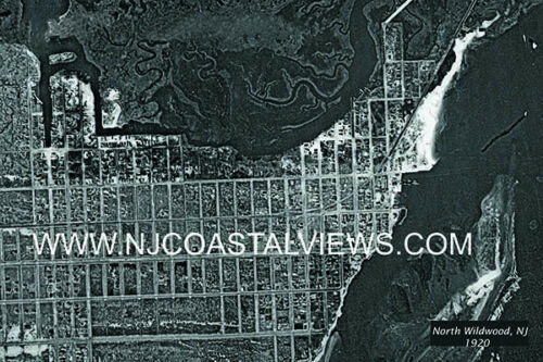 North Wildwood NJ Unique Aerial Photo Prints from 1920,1933/&1944