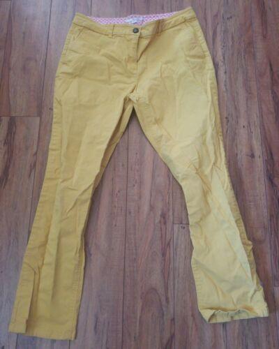Boden Anthropologie Mustard Yellow Pants Women Siz