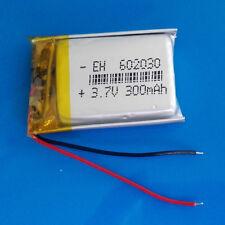 3.7V 300mAh LiPo Polymer Battery for Selfie Stick Speaker Headset MP3 PSP 602030