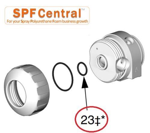6 PCS GRACO Fusion AP exact replacement 248131 #23 Air Cap O-rings