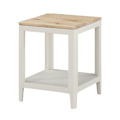 Fabulous Modern White Lamp Table Oak Top Side Table Painted Small Coffee Table New Ebay Beutiful Home Inspiration Xortanetmahrainfo