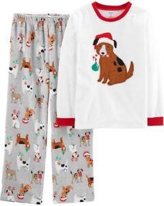 96554bff0653 NEW Carter s Boys 2 Piece Fleece PJs Pajamas Puppy Dog Holiday NWT 6 ...