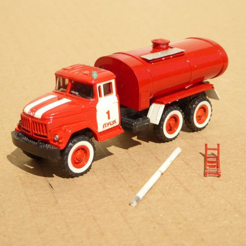 Rk modelle zil 131 firefighter tanker wagon water gdr, spiritual, ussr, ver