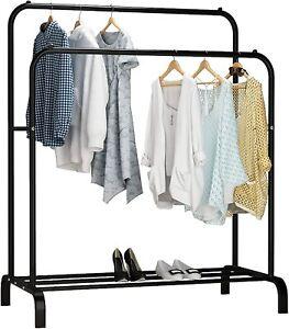 UDEAR Porte-vêtements, Porte-vêtements Multifonctionnel, Porte-Manteaux Noir