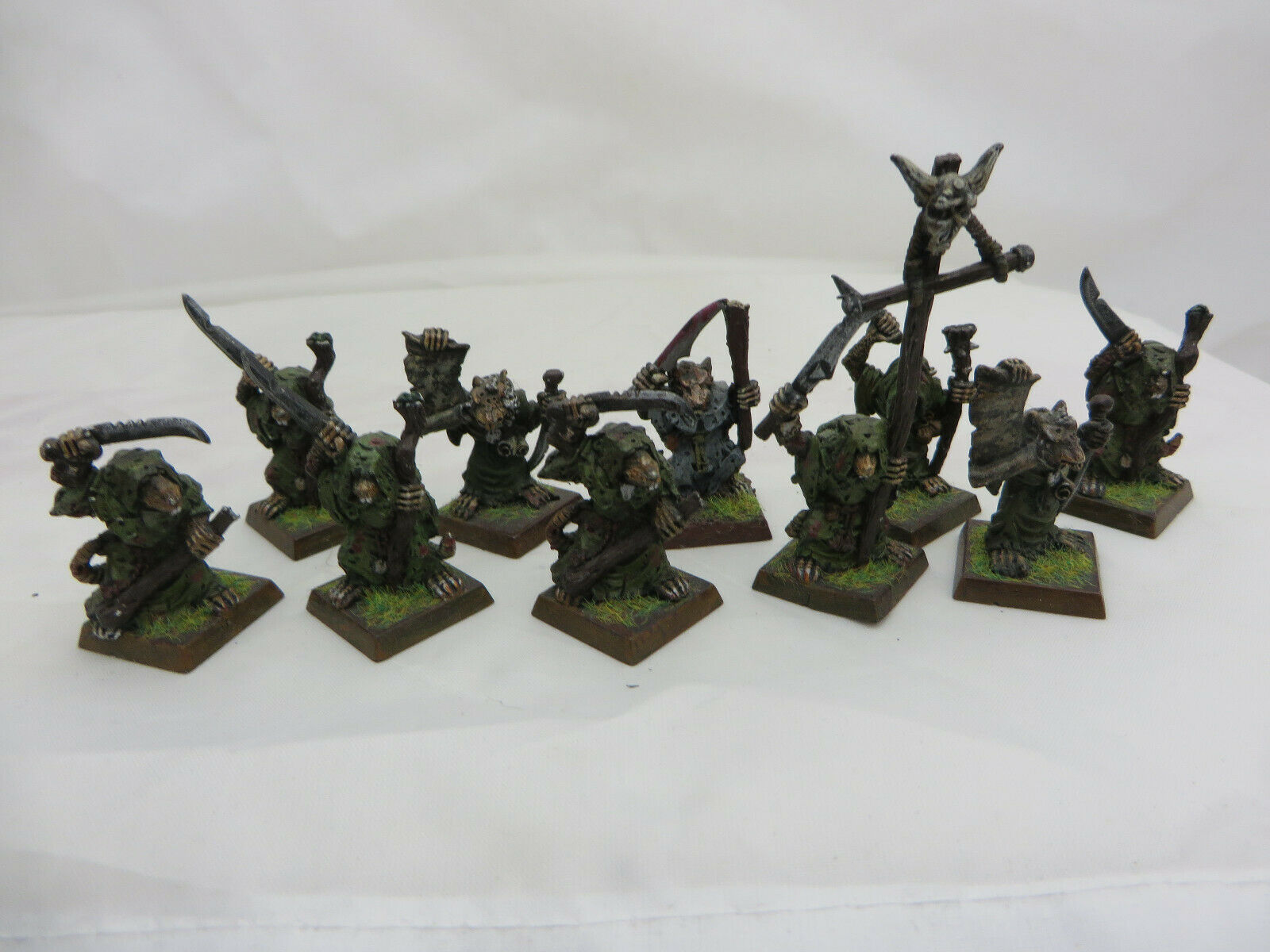 Warhammer Skaven Plague Monks army lot metal OOP painted table ready Pestilens