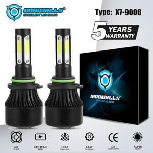 IRONWALLS-9006-HB4-4-Sides-2400W-360000LM-360-LED-Headlight-Kits-Bulbs-6000K