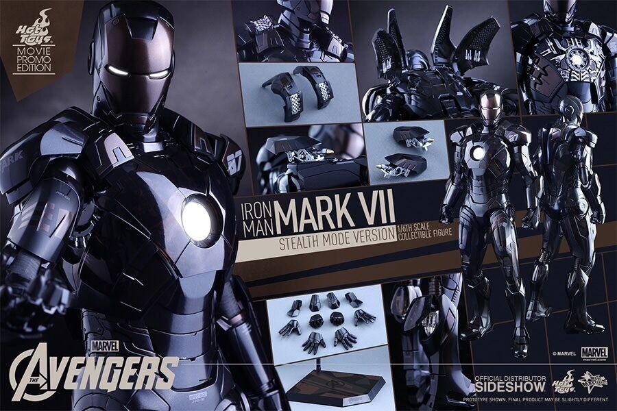 Hot Juguetes Iron Man Mark VII versión modo sigilo Figura De Acción