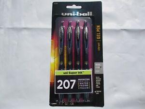 uni-ball-Signo-Gel-207-Retractable-Gel-Pens-8-49-Black-Ink-0-5-mm-Pack-Of-4