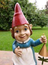 Female Garden Gnome Resin Garden Figurine Ornament Lady Nome New 10.5 in.