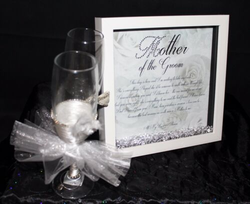Personalised HQ Box Frame Print Mother of the Groom Gift  Birthday Diamantes W21
