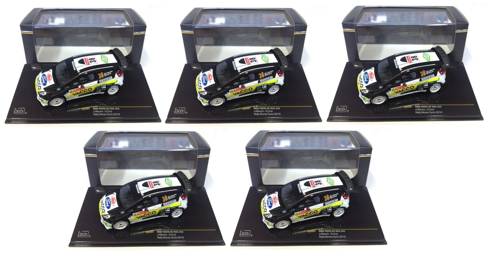 LOTS OF 5 FORD FIESTA RS WRC MC RALLY IXO 1 43 DIECAST CAR WHOLESALE RAM501