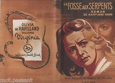 CINEMA. La Fosse aux Serpents/ Mary Jane Ward.1re Edt 1949 illustrée/B.Grinsson