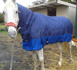 "Free p/&p knight rider poids léger paddock tapis no cou 3/' 9/"" poney//poulain"