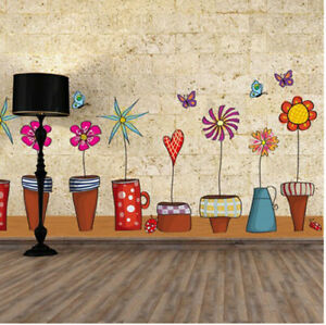 Pot-Plant-Flower-Butterfly-Nature-Lovely-Home-Decor-Decoration-Home-Living-Room