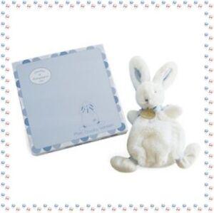 T - Doudou Lapin Blanc Bleu Collection Doudou Bonbon Doudou et Compagnie