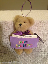 """~BOYDS retired GIFT CARD BEAR 5 1/2"""" w/tag ORNAMENT 2007 for Christams, Bday+"""