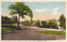Antique POSTCARD c1910-20s Old Santa Fe Trail Marker KANSAS CITY, MO 17647