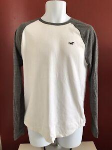 Hollister-Raglan-Long-Sleeve-T-Shirt-Size-M-Good-Condition
