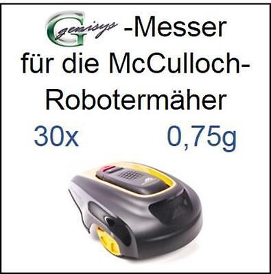 30 Messer Ersatzmesser Ersatz-Klingen 0,45mm für McCulloch Rob R600 R1000 Mc Cul