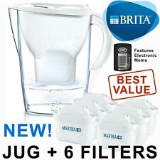 BRITA Marella Cool MAXTRA+ Plus 2.4L Water Filter Jug + 6 Month Cartridges Pack