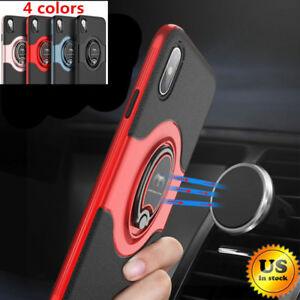 For-iPhone-X-6-6S-7-8-Plus-Ring-Shockproof-Protective-Rugged-TPU-Back-Case-Cover