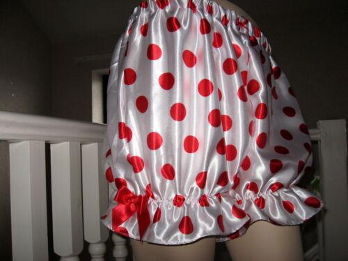 Adulte Satin Bloomers Rouge Rose Noir Sissy Court Pantalon Lolita Party Festival