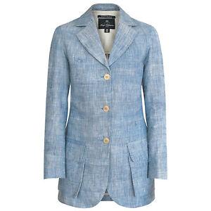 01234211a7a5 NIGEL CABOURN WOMAN long light blue linen blazer women s safari ...