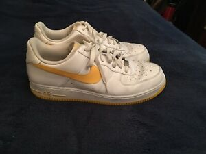 Details about Nike Air Force 1 Low White / Yellow 315122-172 Mens Size 14