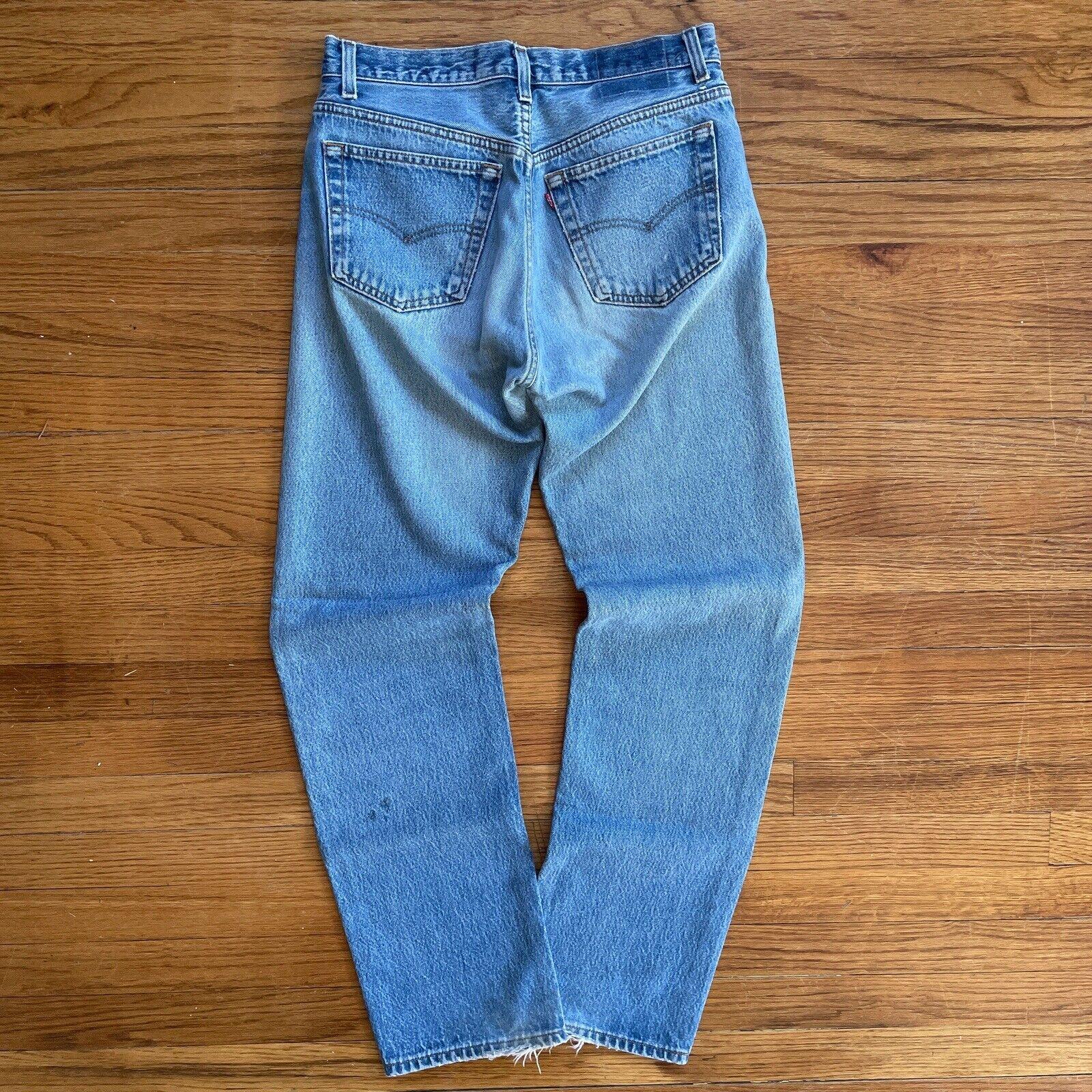 Vintage 90s Levis 501 Mid Wash Button Fly Denim J… - image 1