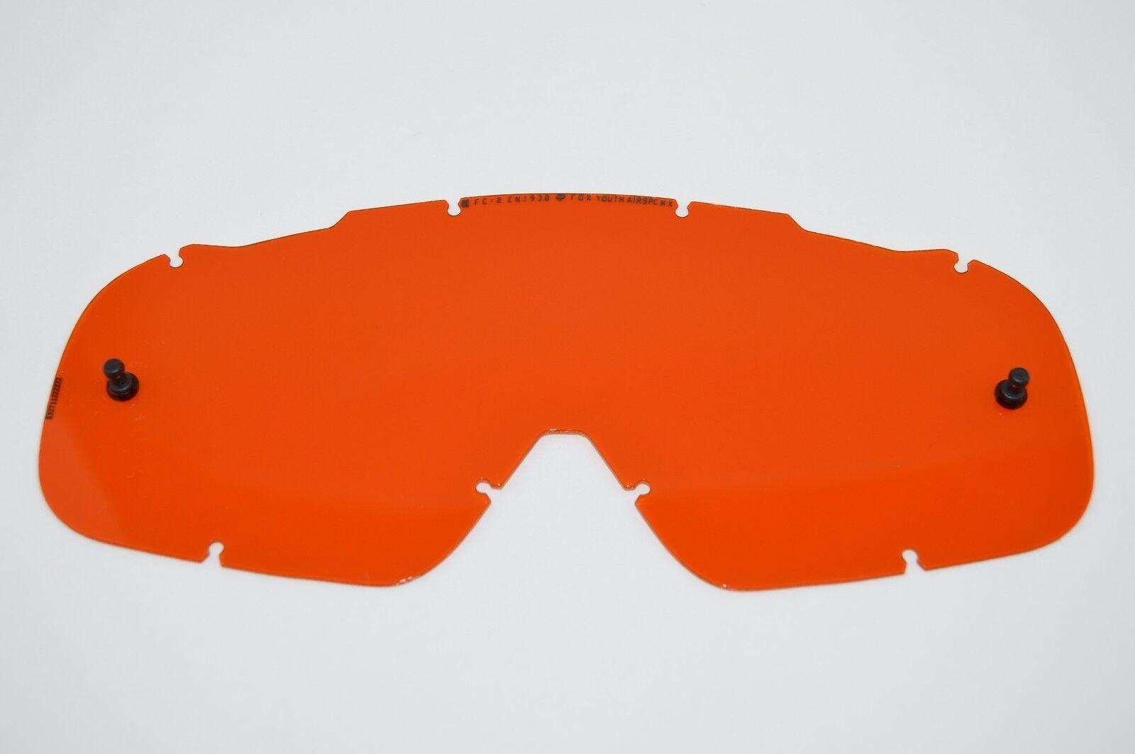 Fox Racing Airspc Single Replacement Lexan Anti Fog Lens Yellow One Size