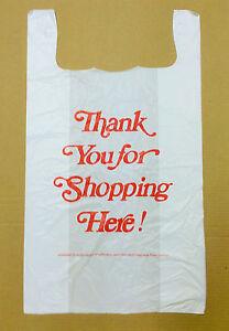 "500 18x8x32 Jumbo 32"" Large Retail Thank You High Density Plastic T-Shirt Bags"